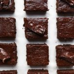 Vegan Chocolate Pumpkin Cake Brownies