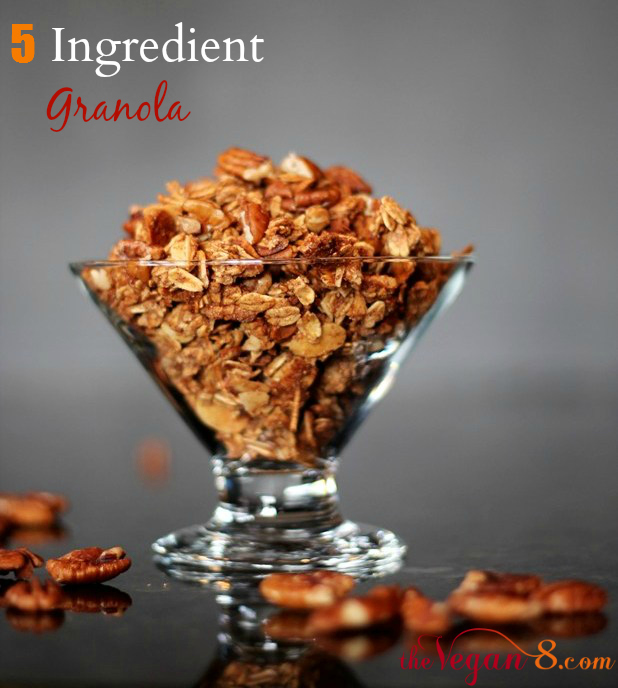 5 Ingredient Cinnamon Granola