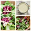 Vegan Caesar salad dressing oil-free on salad