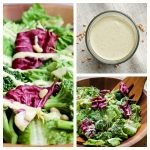 Vegan Caesar salad dressing oil-free on salad