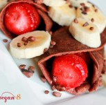Sweet Chocolate Crepes (Gluten-free, Oil-free)