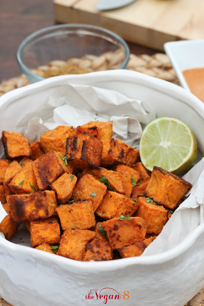 Mexican Sweet Potatoes With Mexican Tahini Sauce