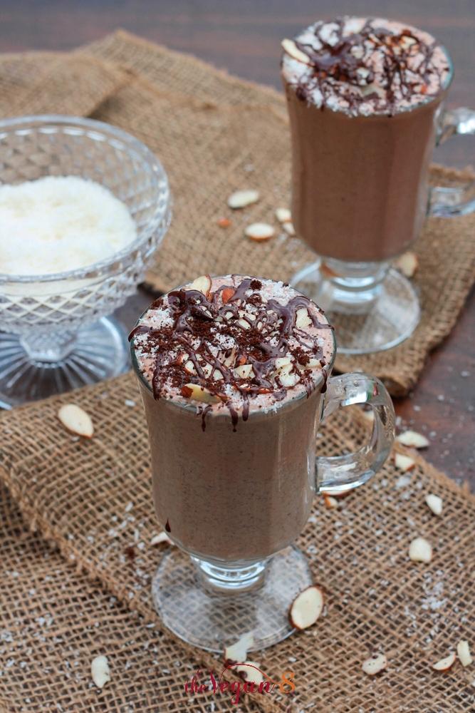 Energizing Almond Joy Milkshake (Raw) - The Vegan 8