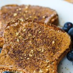 Roasted almond butter on toast