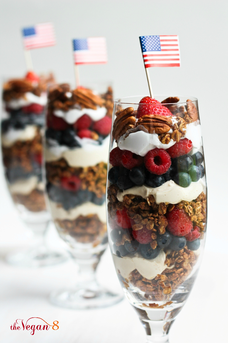 4th Of July Granola Parfaits