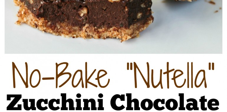 "No-Bake ""Nutella"" Zucchini Chocolate Pie Bars (Magazine Feature!)"