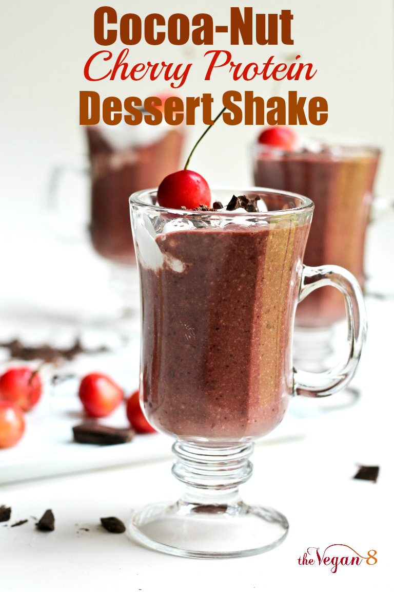 Cocoa-Nut Cherry Protein Dessert Shake