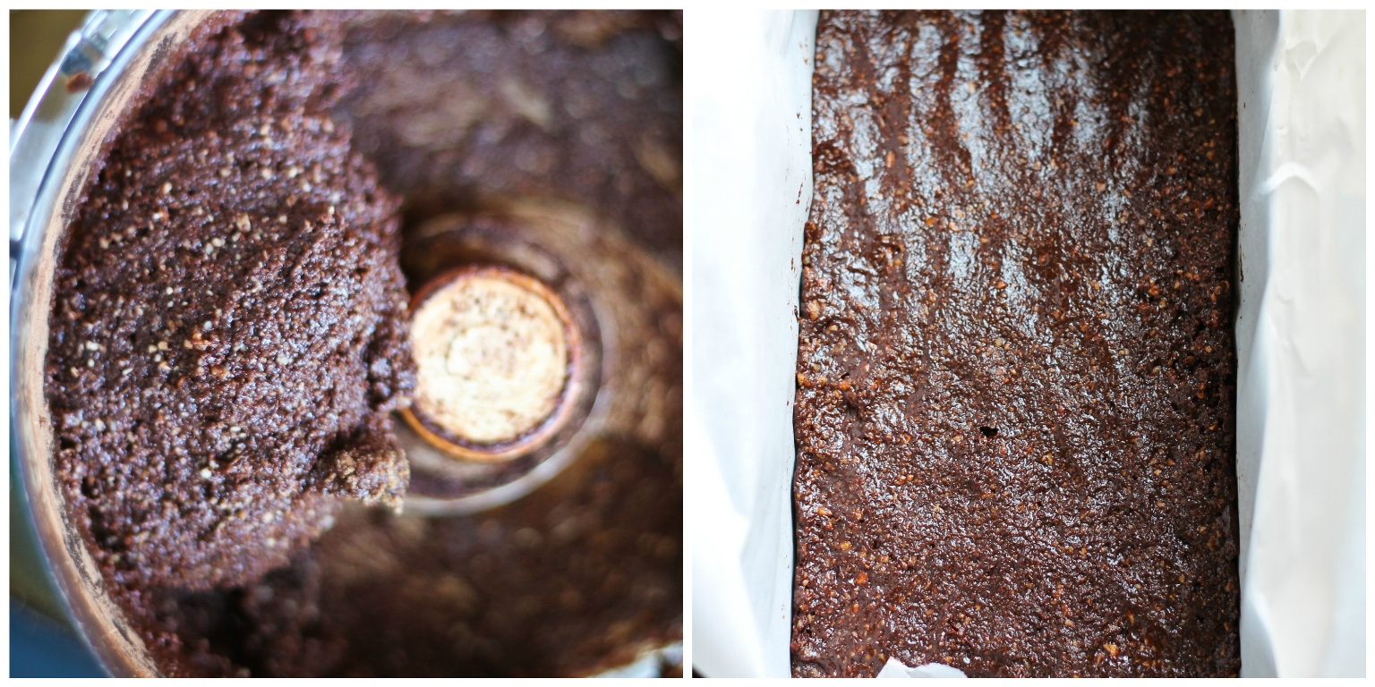 vegan brownie batter in food processor