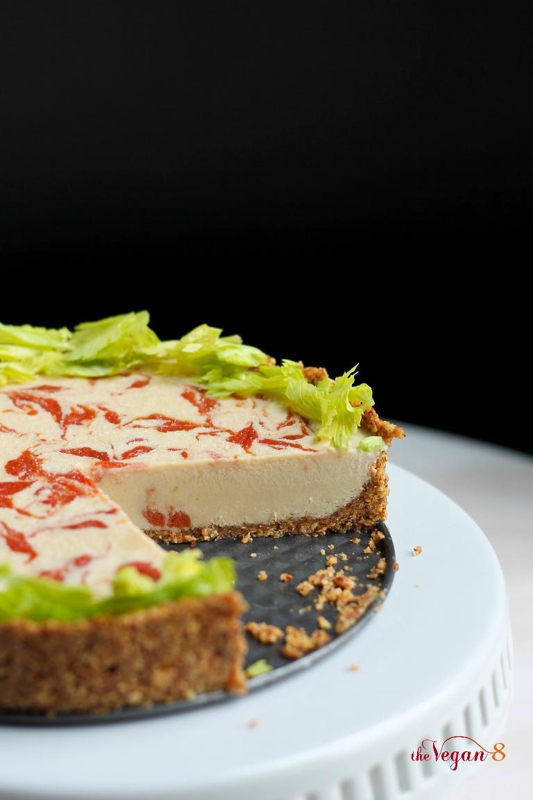 Vegan Bloody Mary Swirl Cheesecake   The Vegan 8