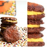 """Chocolate & Apricot """"Buttercream"""" Cookie Sandwiches for Halloween"""
