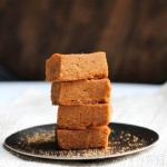 stack of toffee fudge on a plate