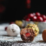 Cranberry Surprise Dark Chocolate Truffles