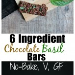 6 Ingredient No-Bake Chocolate Basil Bars