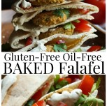Gluten-Free Oil-Free Baked Falafel