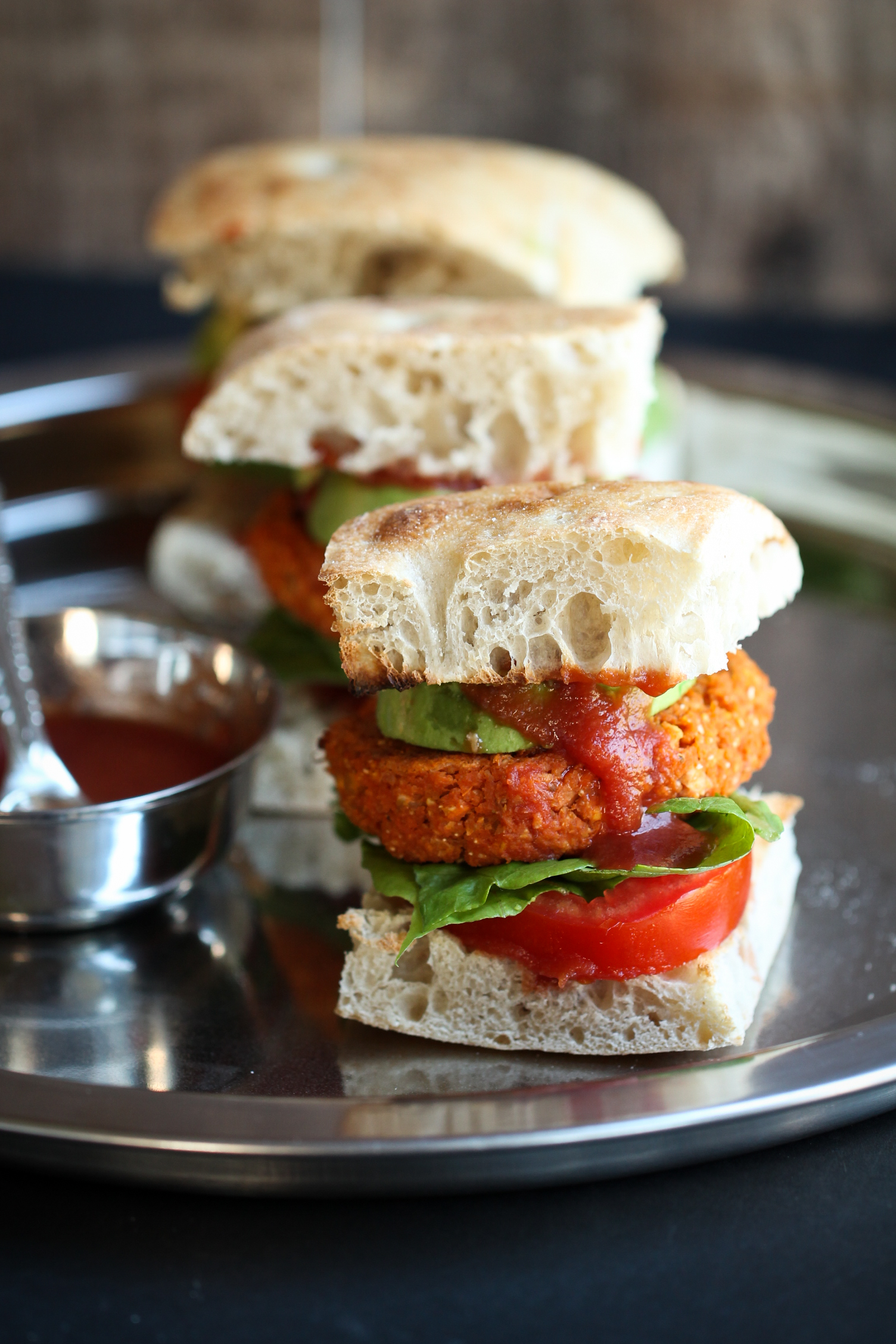 vegan barbecue chickpea sweet potato burgers the vegan  after the huge success of my fat baked mexican black bean burgers using potatoes and cornmeal i was dying to create another burger