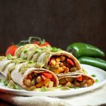 Easy Vegan Breakfast Burritos with Salsa