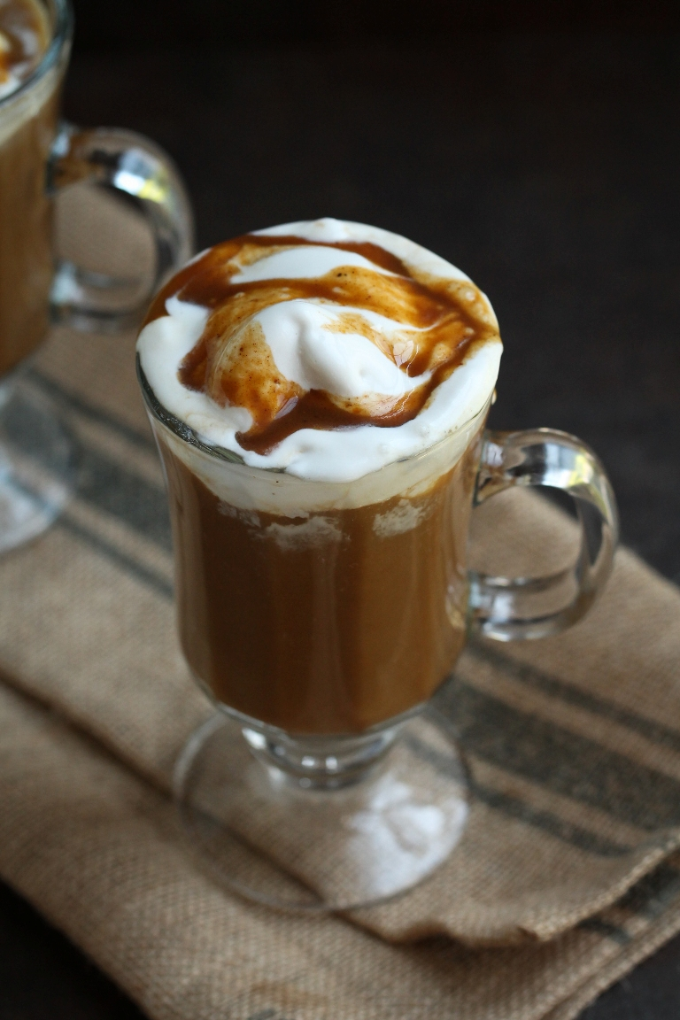After you've sweetened the latte with the syrup, you then will want to add some whipped cream. I used the So Delicious CocoWhip, it is sooo good.
