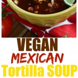 Vegan Mexican Tortilla Soup