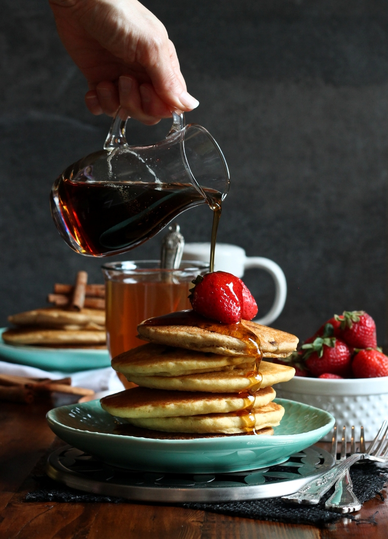 Low fat vegan gluten free pancakes soft fluffy the vegan 8 pancake miracles okay a bit dramatic but seriously i didnt think it was possible to make low fat pancakes be delicious and also be vegan gluten free ccuart Choice Image