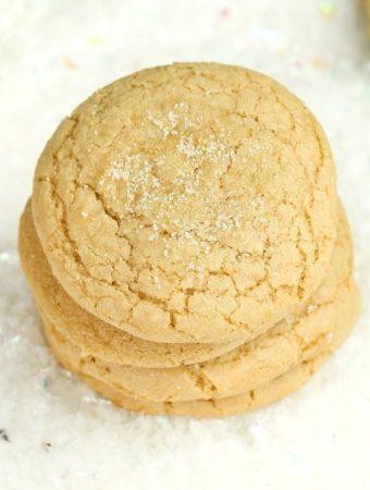 stack of vegan sugar cookies