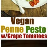 Penne Pesto (The Rawsome Vegan Cookbook Giveaway!)