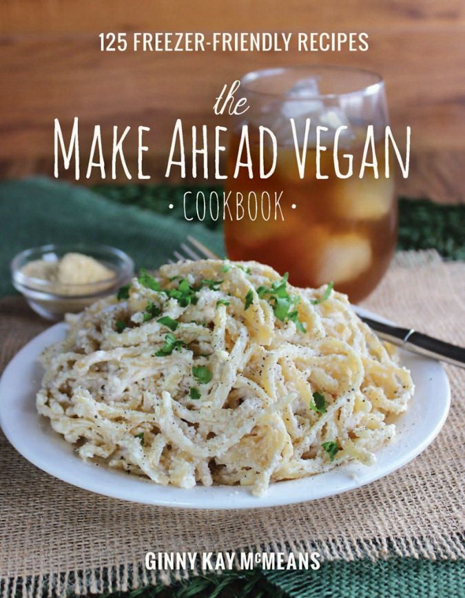 cover of the make ahead vegan cookbook