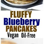 Fluffy Vegan Spelt Blueberry Pancakes