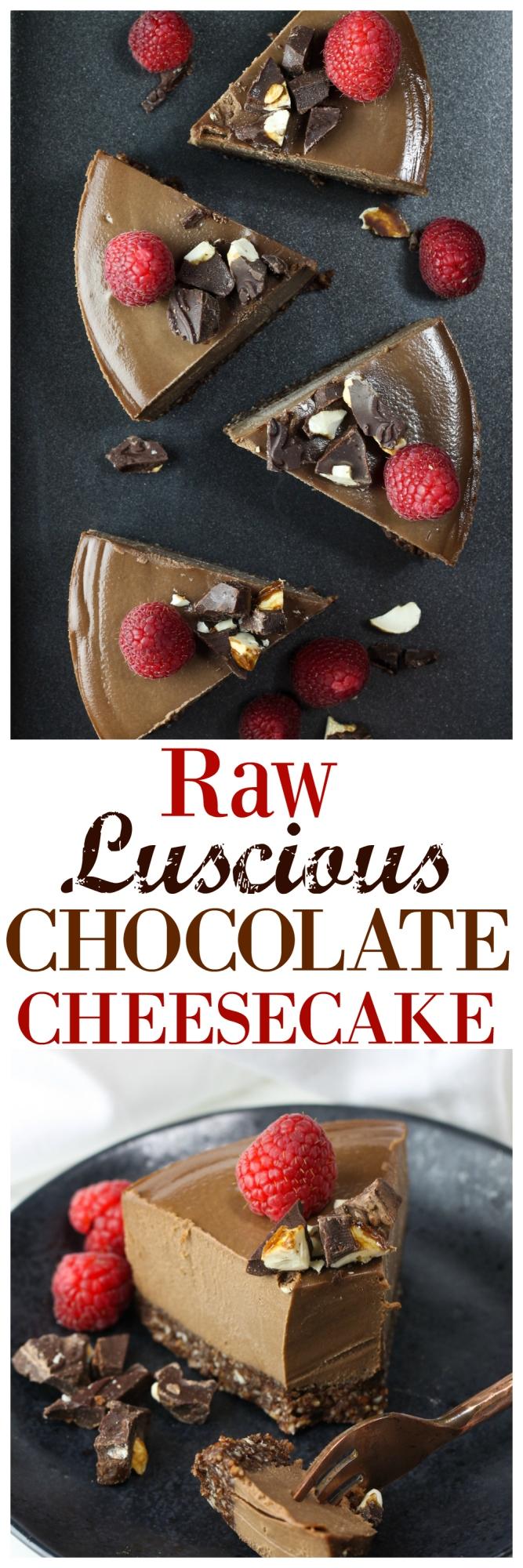 Raw Luscious Chocolate Cheesecake