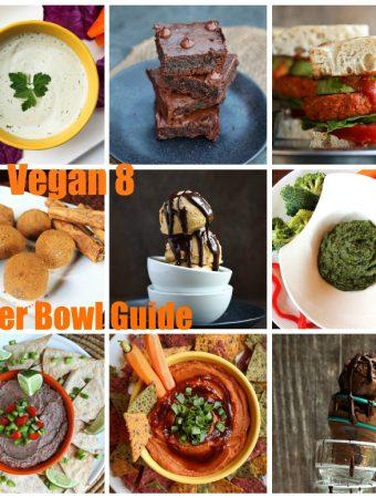 Vegan Superbowl recipes collage