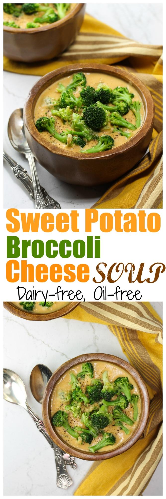 Sweet Potato Broccoli Cheese Soup
