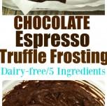 Vegan Chocolate Espresso Truffle Frosting