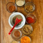 spices to make homemade curry powder