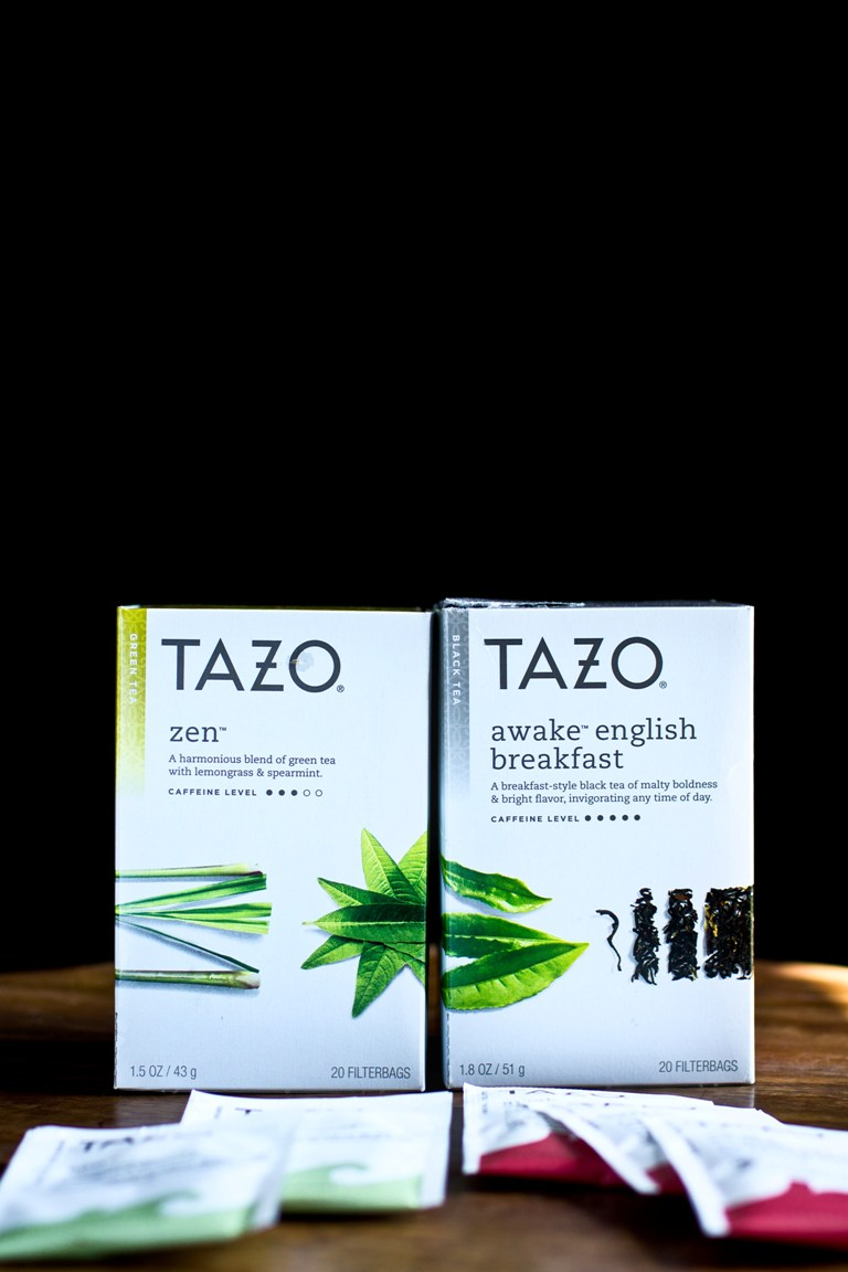 2 boxes of Tazo tea
