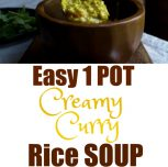Easy 1 Pot Creamy Curry Rice Soup