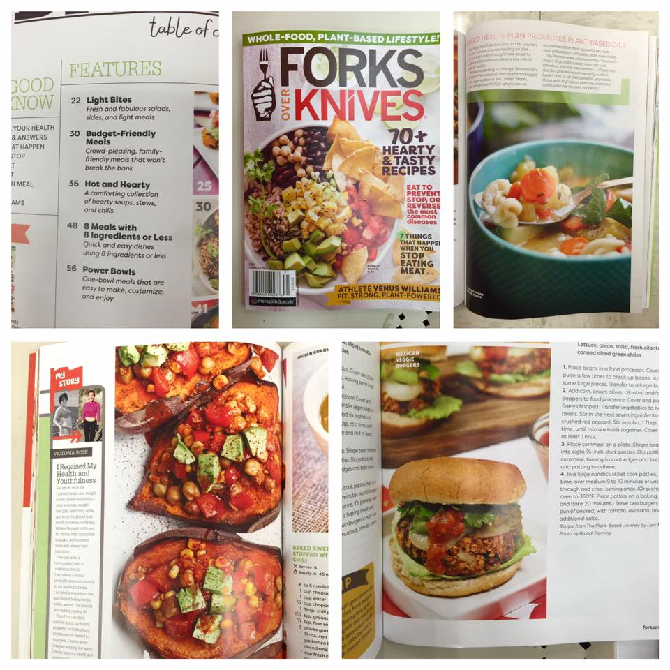 The Vegan 8 blog featured in a Forks Over Knives magazine