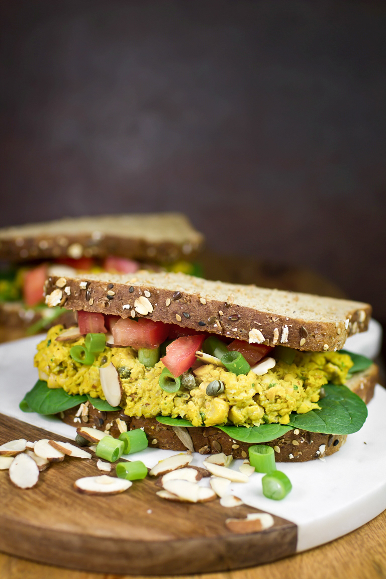 Vegan Curry Chickpea Sandwiches