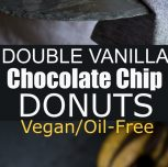 Vegan Double Vanilla Chocolate Chip Donuts