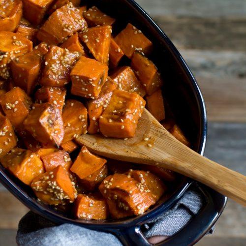 Miso Glazed Sweet Potatoes The Vegan 8