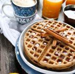 Vegan Gluten Free Chai Spiced Waffles