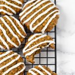 Low-Fat Gluten-Free Vegan Iced Oatmeal Cookies