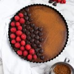 Vegan Chocolate Sweet Potato Tart
