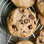 closeup of peanut butter chocolate chip cookies