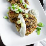 "Spicy Grilled ""Crab"" Patties with Aioli"