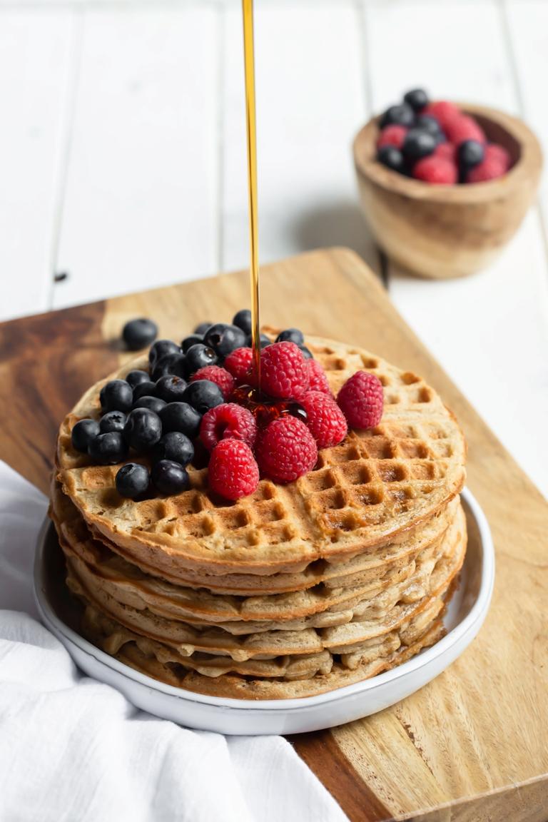 vegan vanilla cake waffles the vegan 8