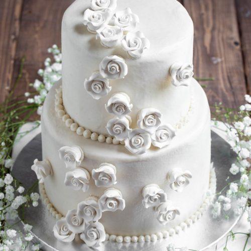 Vegan Vanilla Wedding Cake Full