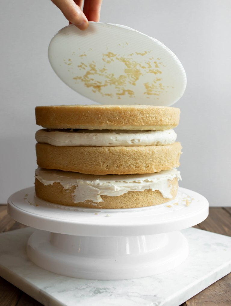 Wedding Cake Recipe.Vegan Gluten Free Vanilla Wedding Cake