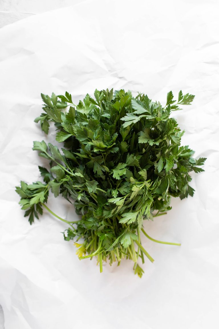bunch of fresh parsley