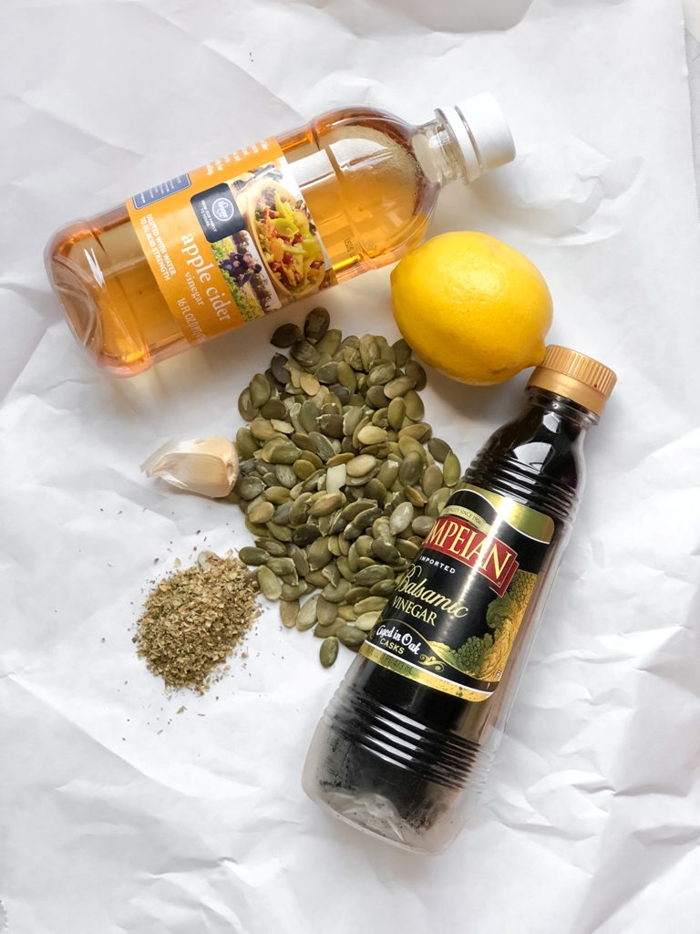 ingredients for vegan chimichurri sauce