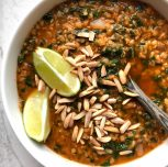 Lazy Red Lentil Curry Soup