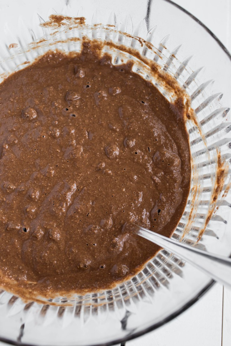 Vegan chocolate zucchini muffin batter